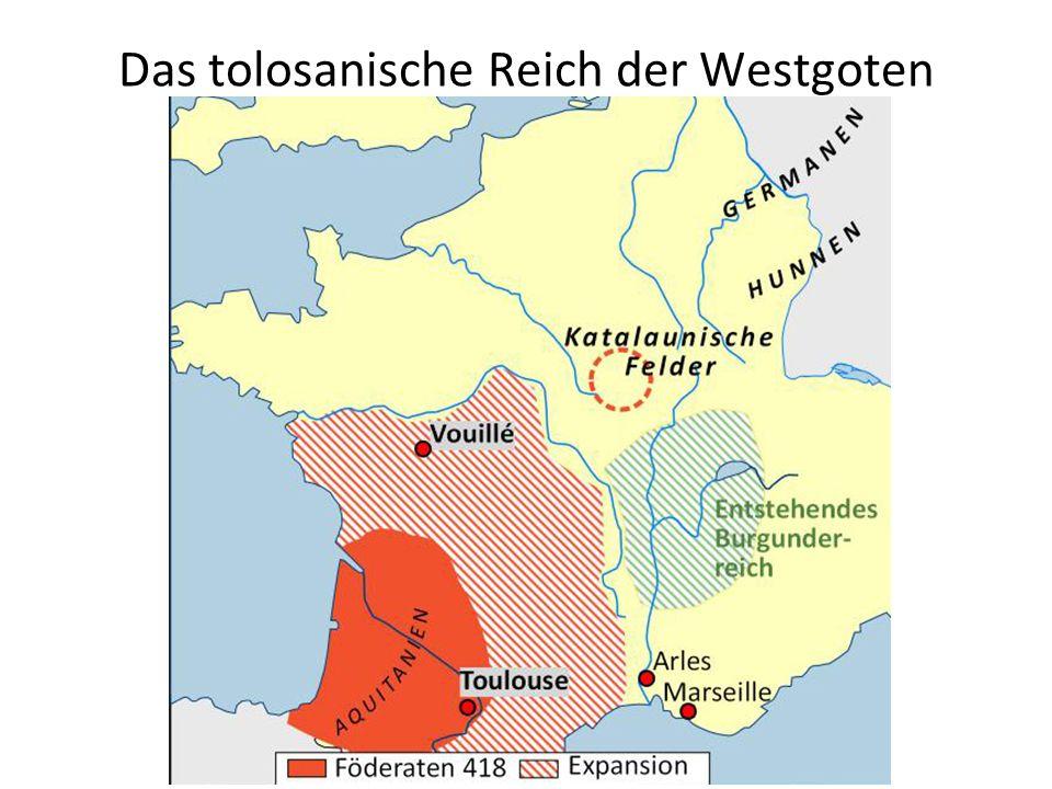 Das tolosanische Reich der Westgoten