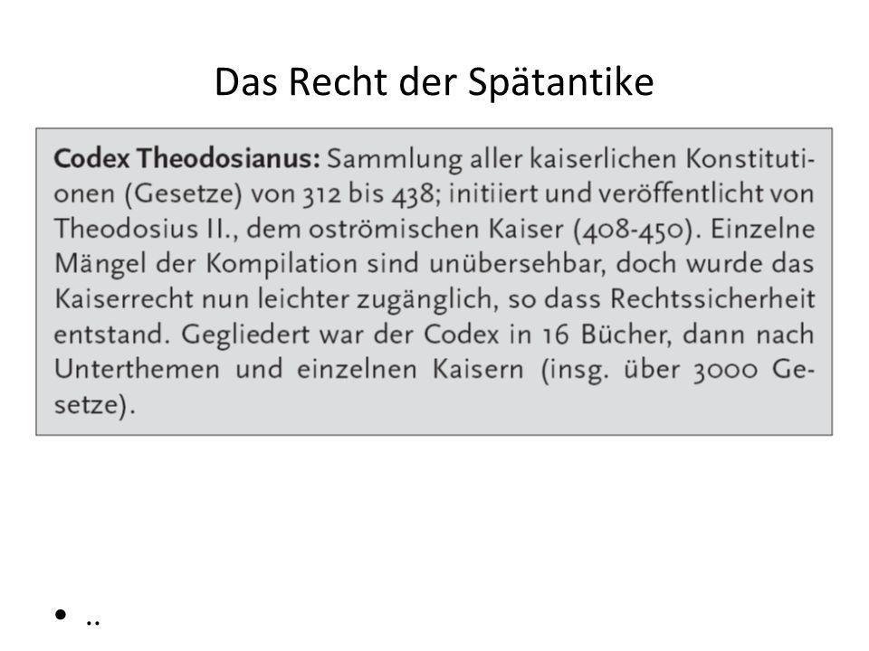 Das Recht der Spätantike..