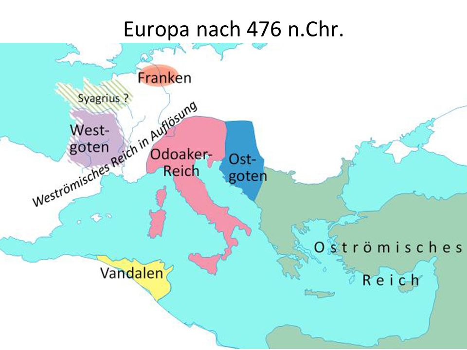 Europa nach 476 n.Chr...
