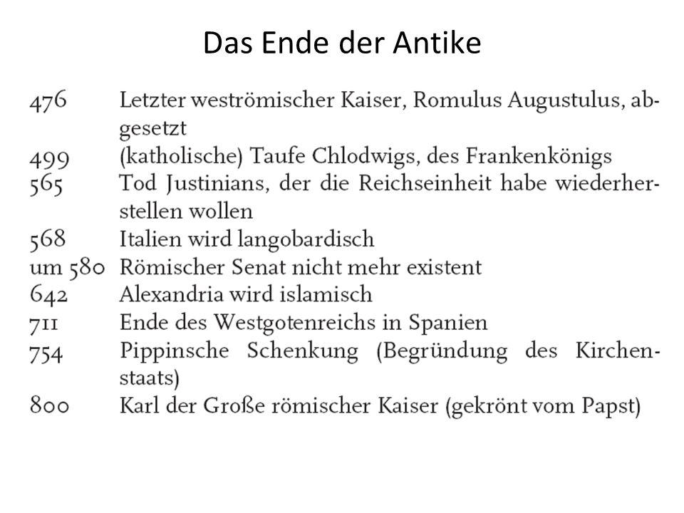 Das Ende der Antike 28 Pkt.