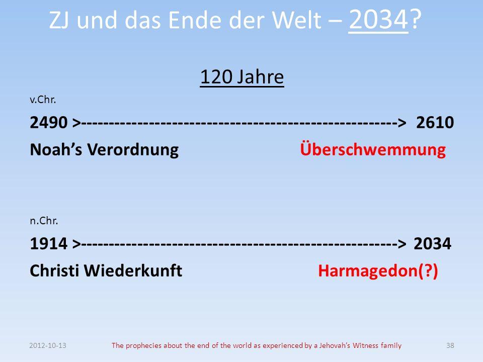 ZJ und das Ende der Welt – 2034. 120 Jahre v.Chr.