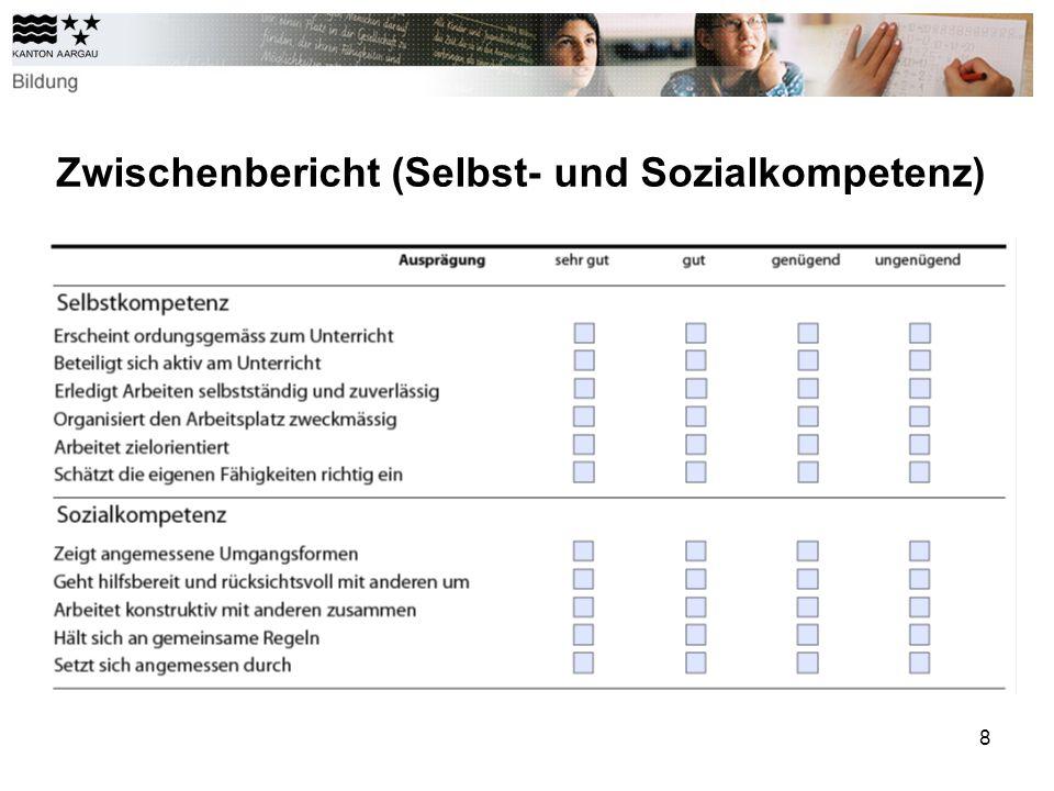 8 Zwischenbericht (Selbst- und Sozialkompetenz)