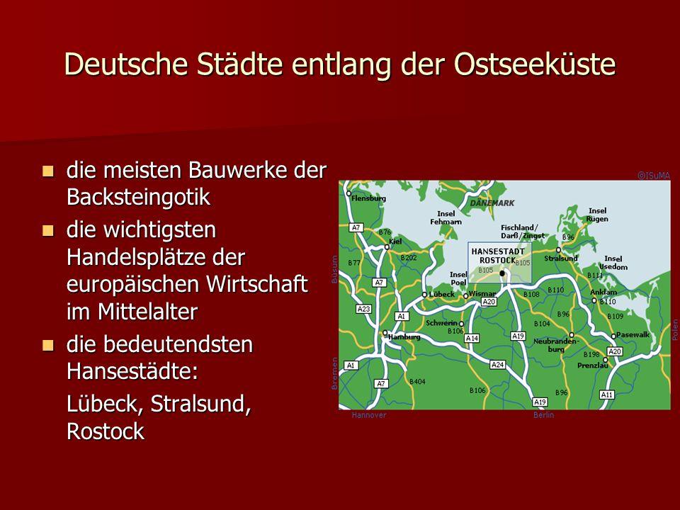 Marienkirche 1416 1416 zweitgrößte Backsteinkirche im Hanseraum zweitgrößte Backsteinkirche im Hanseraum