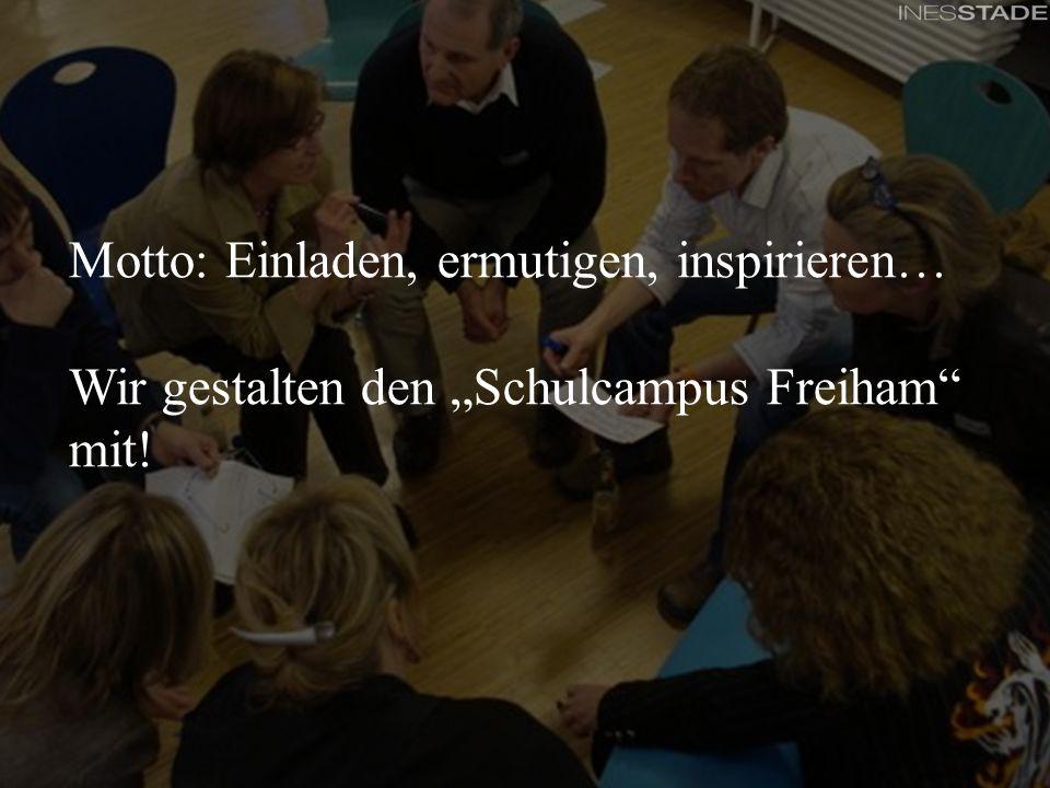 Feinkonzept - Beteiligungskonferenzen für das Partizipationsprojekt Schulcampus Freiham Motto Motto: Einladen, ermutigen, inspirieren… Wir gestalten d