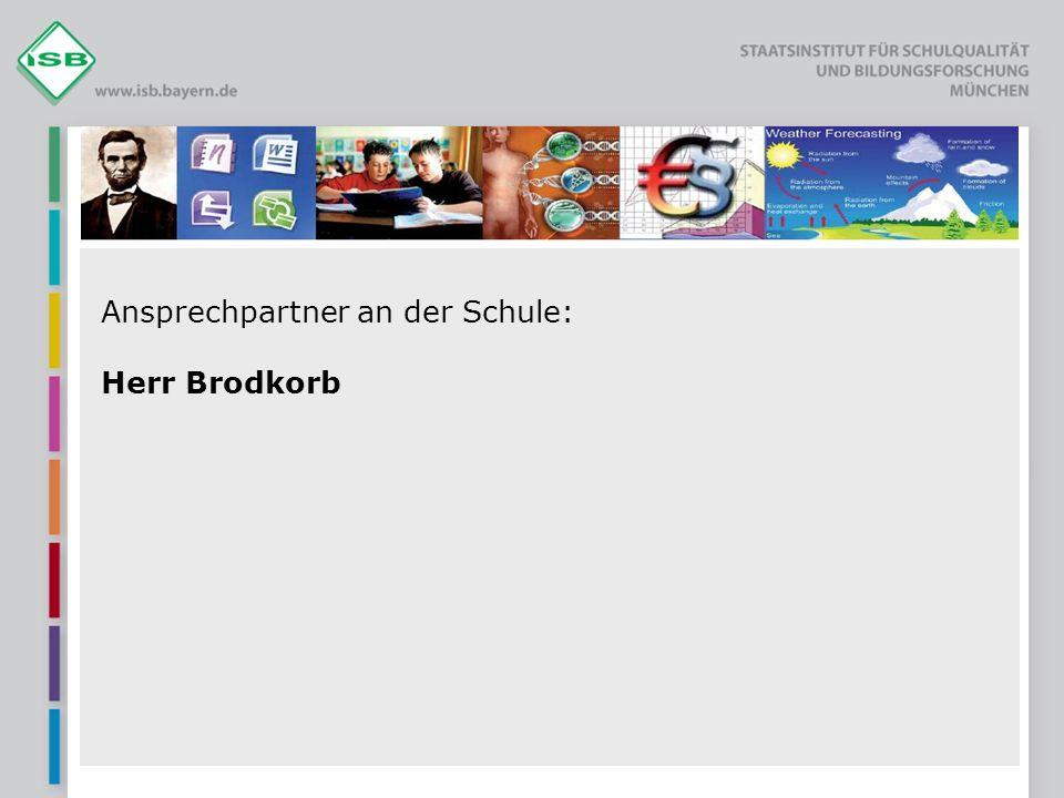 Ansprechpartner an der Schule: Herr Brodkorb
