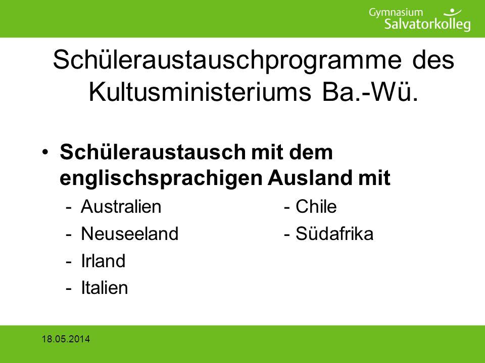 2 x 14 Tage Alsace Partnersuche –über bereits bestehende Schulpartnerschaften –Partnerschulbehörde in Strasbourg vermittelt Austauschpartner 18.05.2014