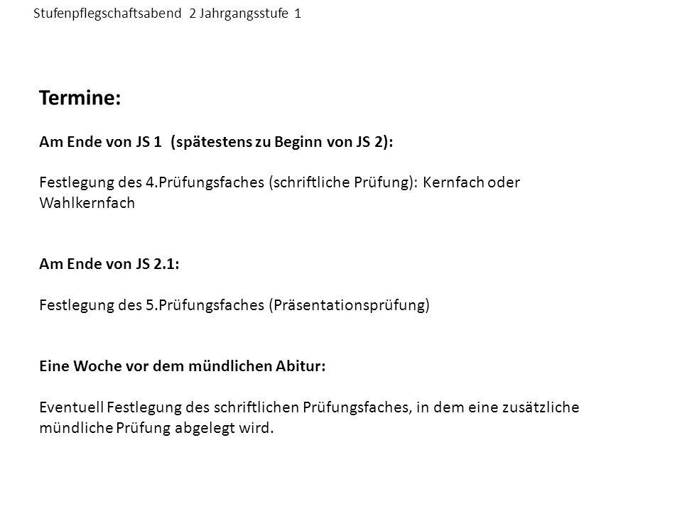 Prüfungsfachkombinationen Deutsch Mathematik Fremdsprache Fremdsprache Ph, Ch, Bio Bk, Mu Sport Geschichte Erdkunde Gem.kd.