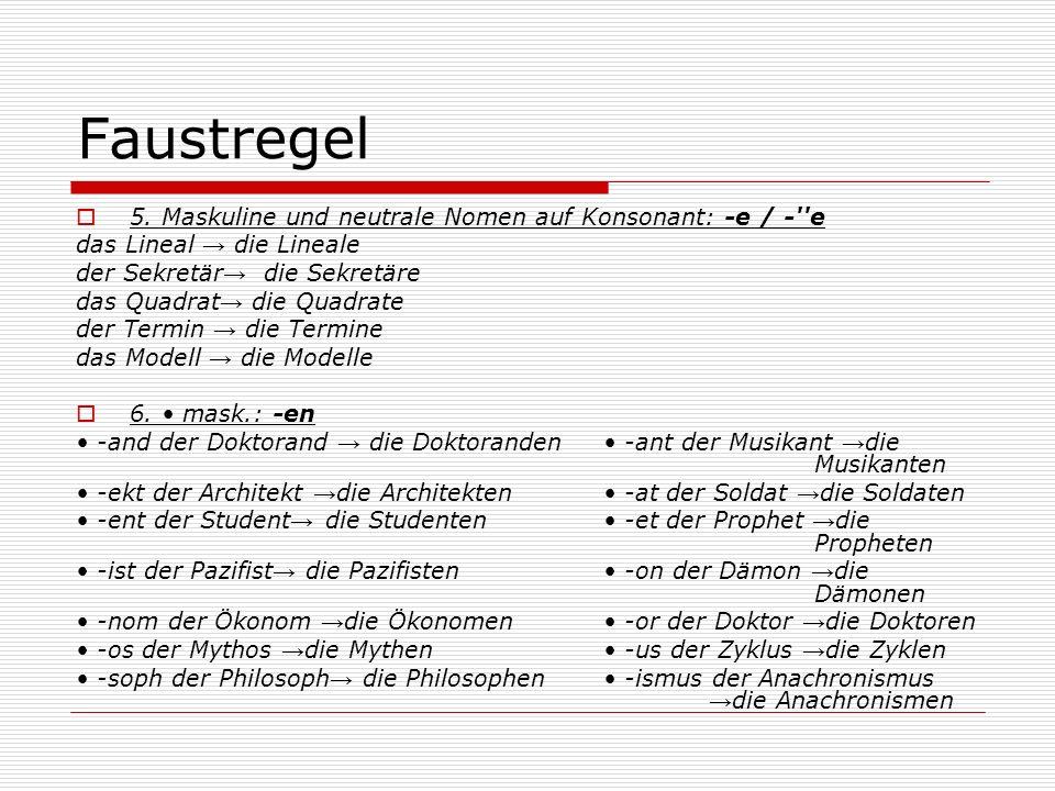 Faustregel 5.