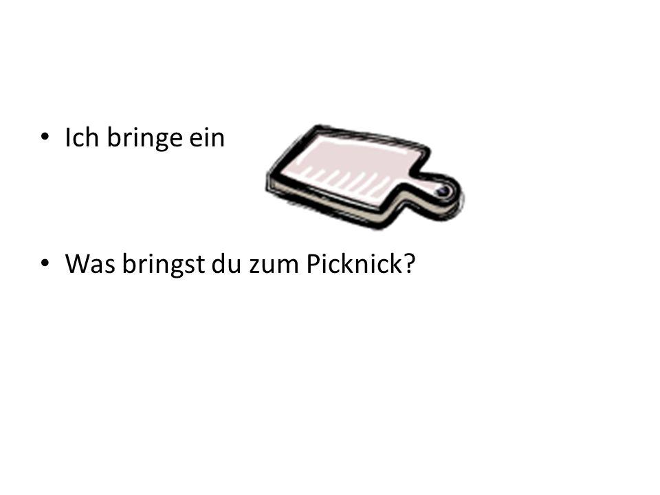 Ich bringe ein Was bringst du zum Picknick?