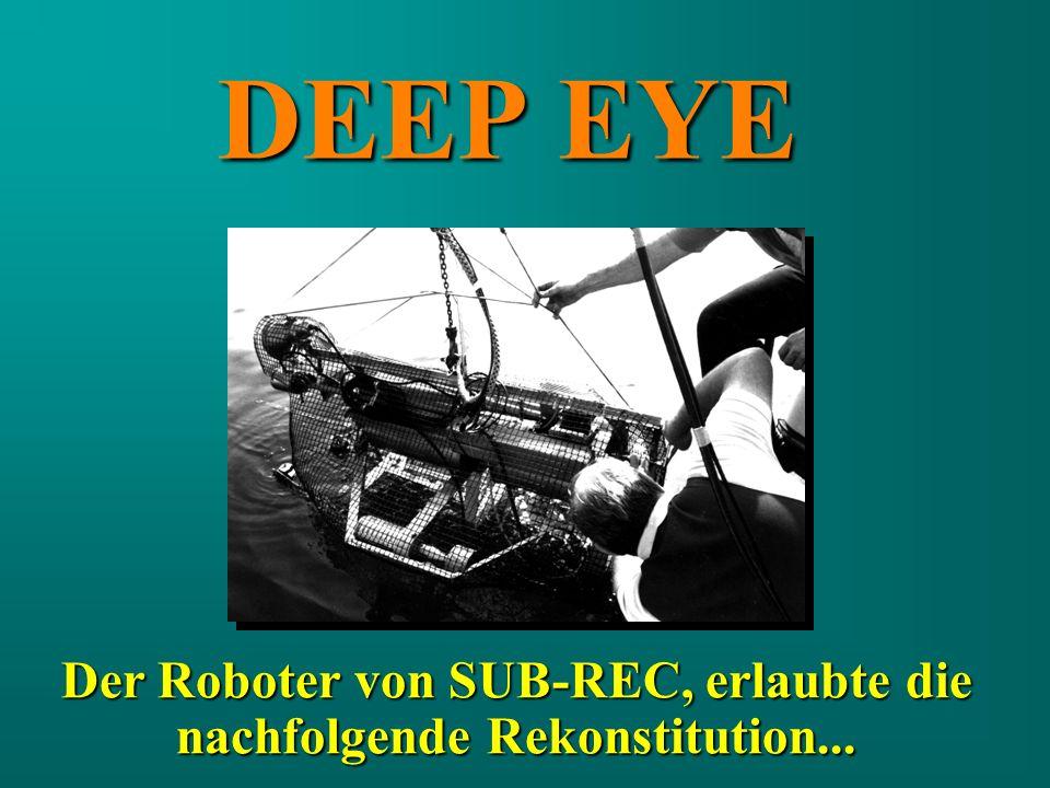 DEEP EYE Der Roboter von SUB-REC, erlaubte die nachfolgende Rekonstitution...