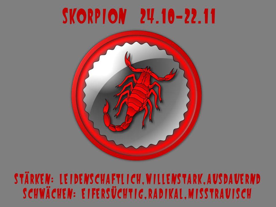 Schütze 23.11-21.12 Stärken: romantisch,optimistisch,liebenswert Schwächen: unzuverlässig,rastlos,scheinheilig