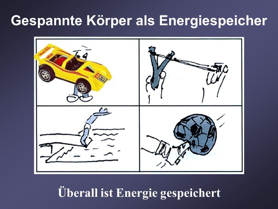 Überall ist Energie gespeichert Gespannte Körper als Energiespeicher