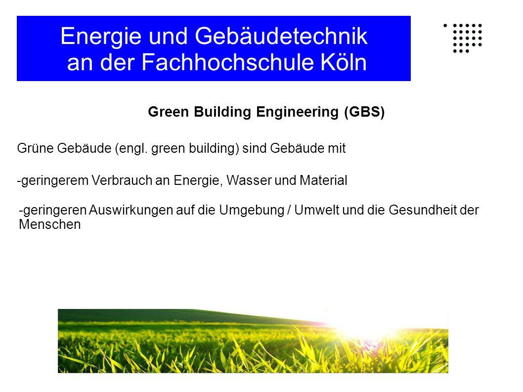 Gliederung des Studiums Hauptstudium: Energie und Gebäudetechnik an der Fachhochschule Köln