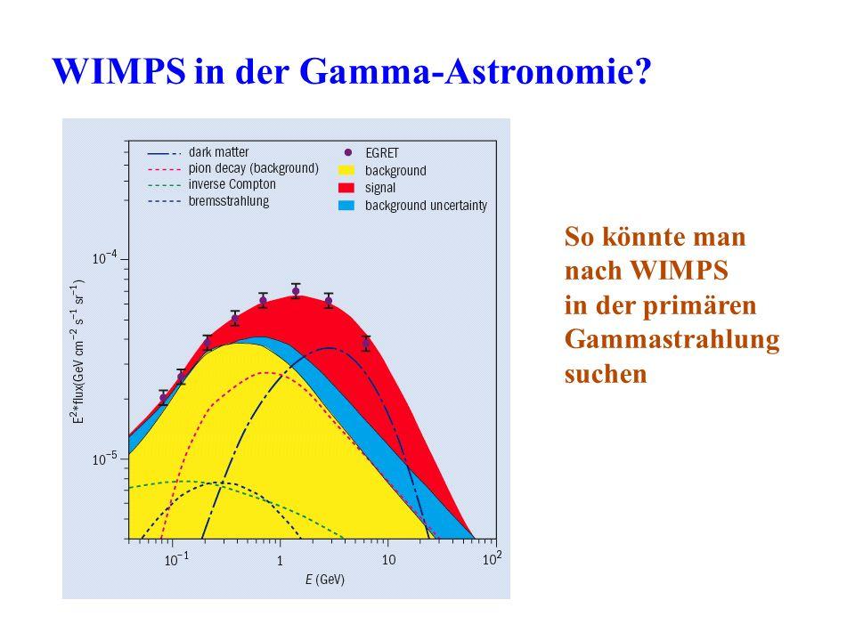 WIMPS in der Gamma-Astronomie? So könnte man nach WIMPS in der primären Gammastrahlung suchen
