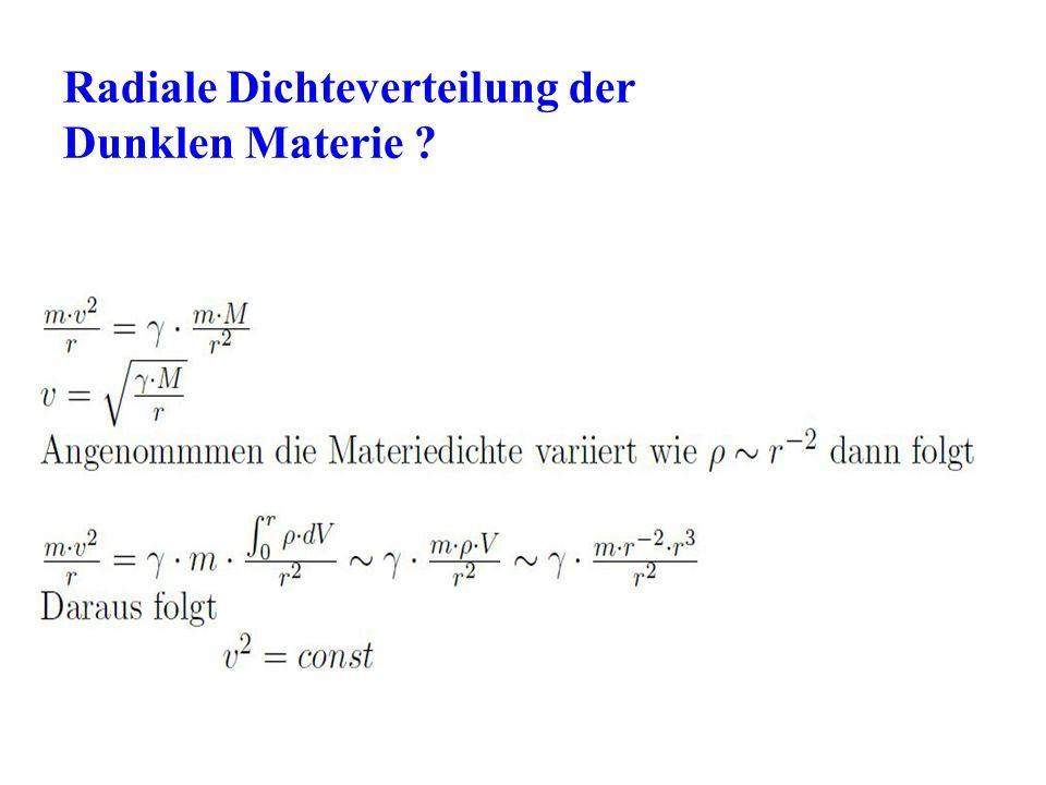 Radiale Dichteverteilung der Dunklen Materie ?