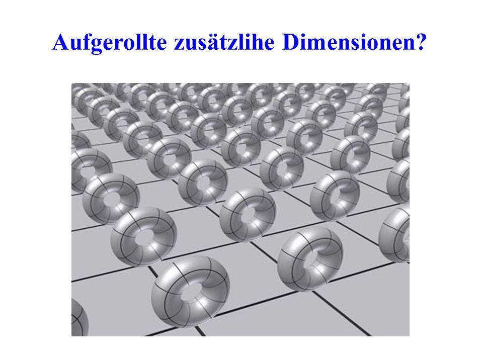 Aufgerollte zusätzlihe Dimensionen?