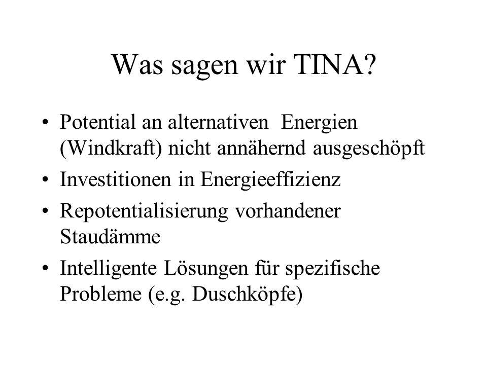 Was sagen wir TINA.