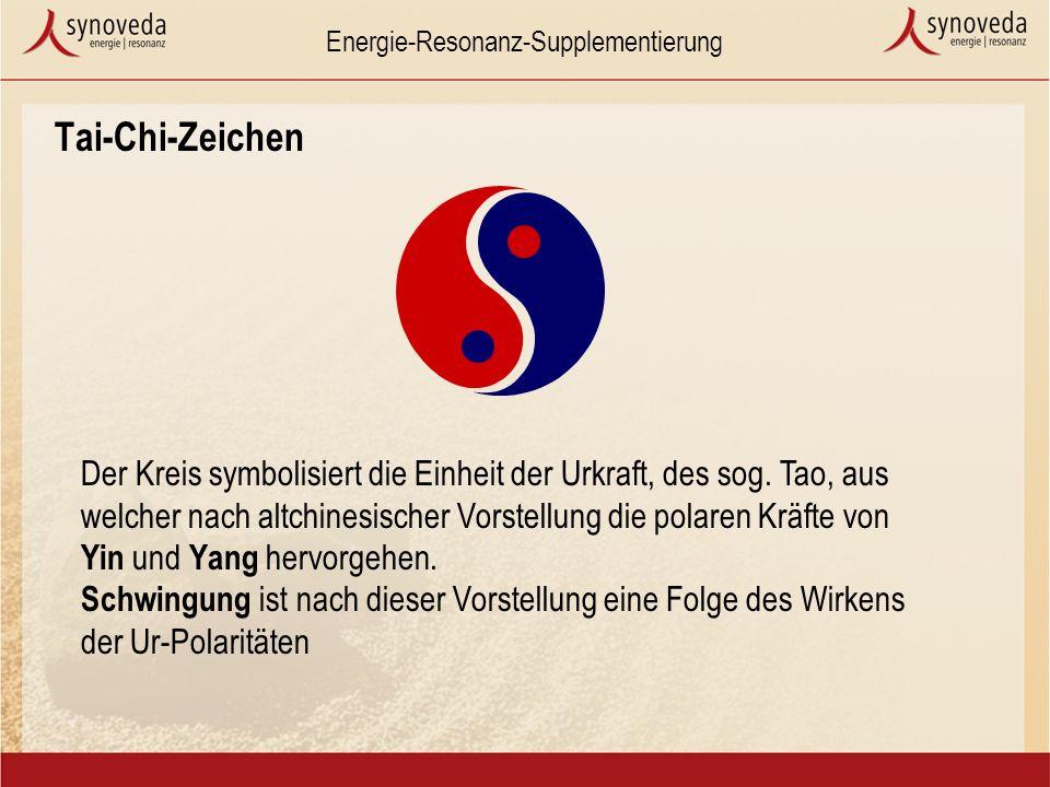 Energie-Resonanz-Supplementierung Tai-Chi-Zeichen Der Kreis symbolisiert die Einheit der Urkraft, des sog.