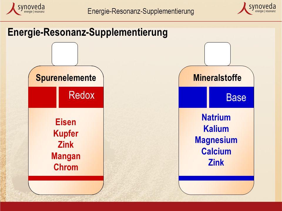 Energie-Resonanz-Supplementierung Eisen Kupfer Zink Mangan Chrom Redox Natrium Kalium Magnesium Calcium Zink Base SpurenelementeMineralstoffe