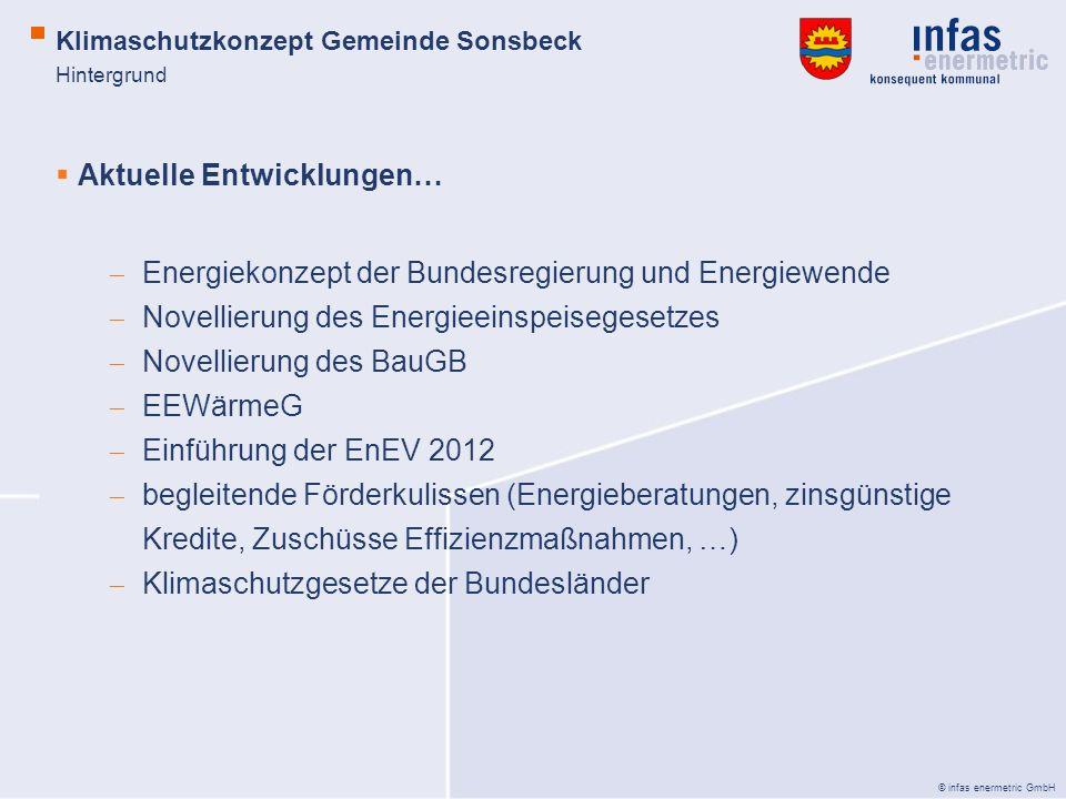 © infas enermetric GmbH Hintergrund Aktuelle Entwicklungen… Energiekonzept der Bundesregierung und Energiewende Novellierung des Energieeinspeisegeset