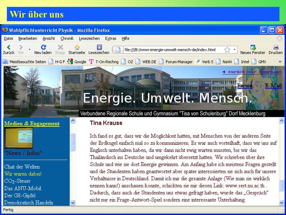 Wir über uns 16www.energie-umwelt-mensch.de18.05.2014