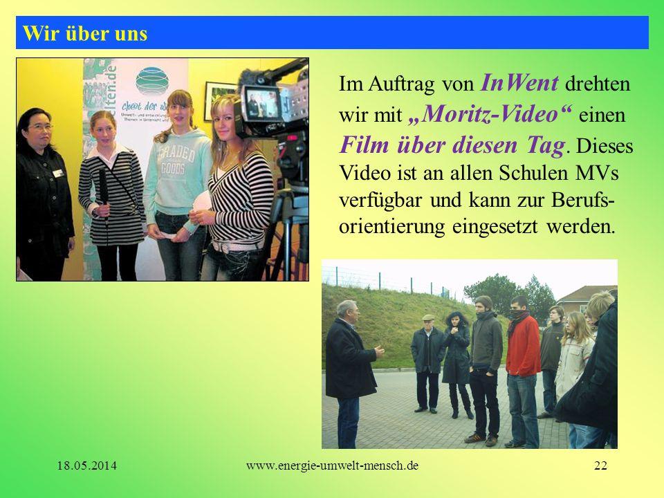 Im Auftrag von InWent drehten wir mit Moritz-Video einen Film über diesen Tag. Dieses Video ist an allen Schulen MVs verfügbar und kann zur Berufs- or