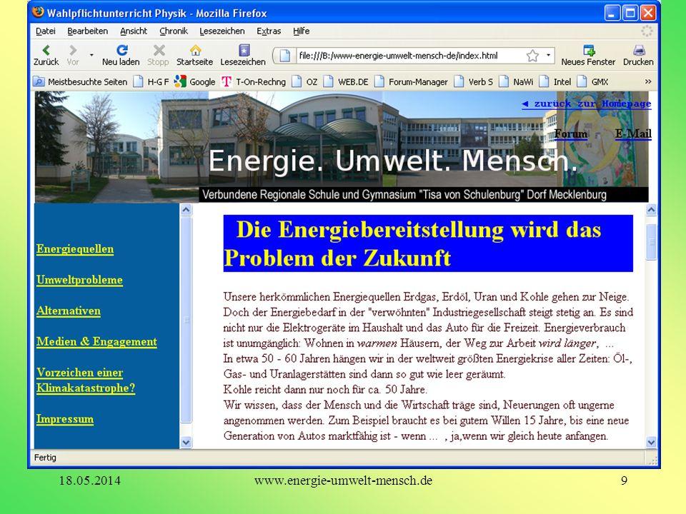 9www.energie-umwelt-mensch.de18.05.2014