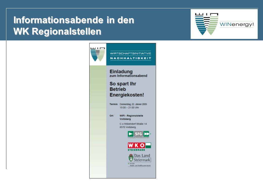 Informationsabende in den WK Regionalstellen