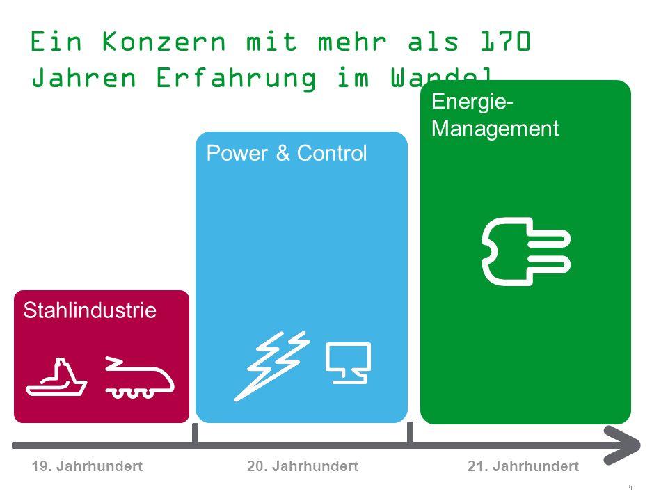 4 2010 Akquisition von Areva D 1999 Groupe Schneider wird Schneider Electric und konzentriert sich auf den Geschäftsbereich Power & Control 1975 Merli