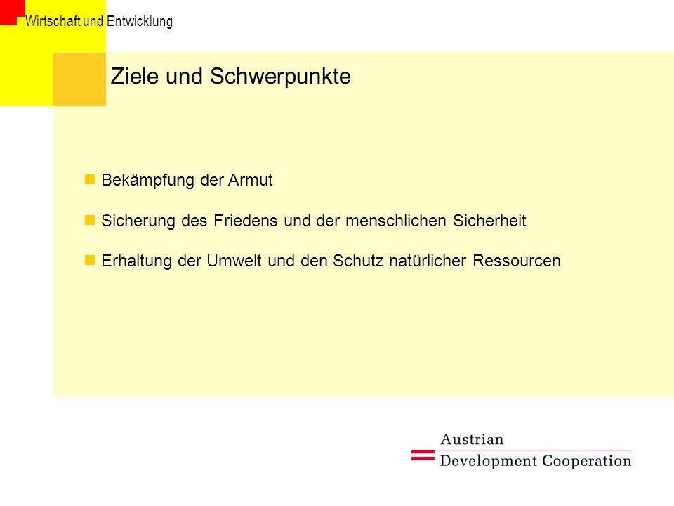 Wirtschaft und Entwicklung Akteure und Partner BMeiA VII.5.