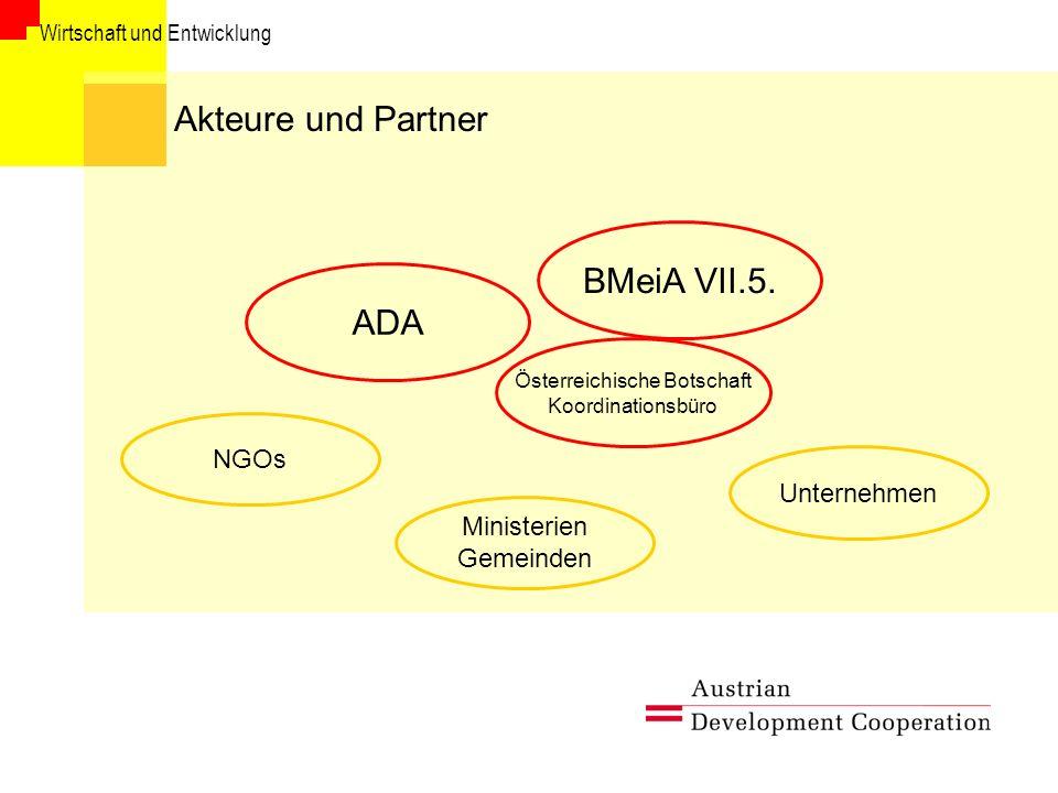 Wirtschaft und Entwicklung Information und Kontakt Austrian Development Agency Referat Wirtschaft und Entwicklung Dr.