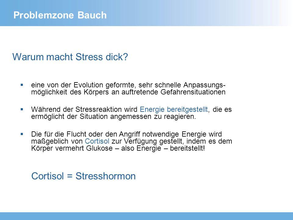 Problemzone Bauch Stress – der größte Feind für die Figur Cortisol beeinflusst das Fettgewebe auf zweierlei Weise: 1.Es vergrößert die Fettzellen.
