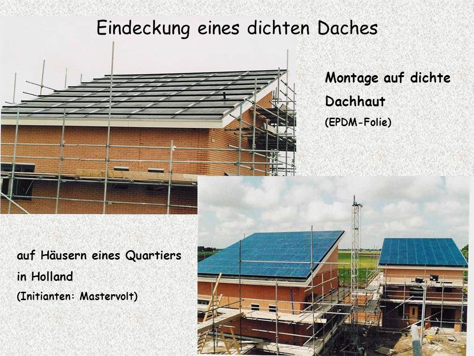 Zwei Anlagebeispiele EGH-Anlage Hünenberg 32,56 kWp Anlage SZU Zürich 86,4 kWp