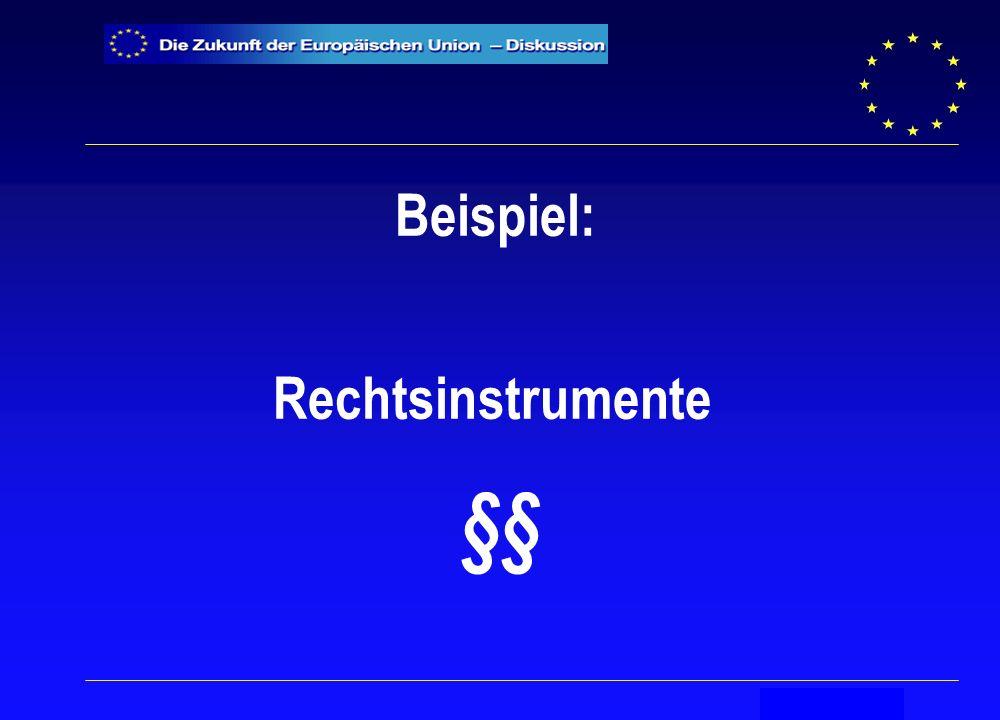 Secrétariat général Beispiel: Rechtsinstrumente §§