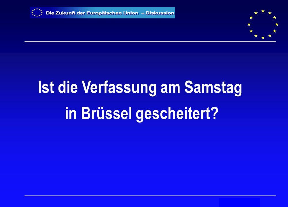 Secrétariat général Ist die Verfassung am Samstag in Brüssel gescheitert?