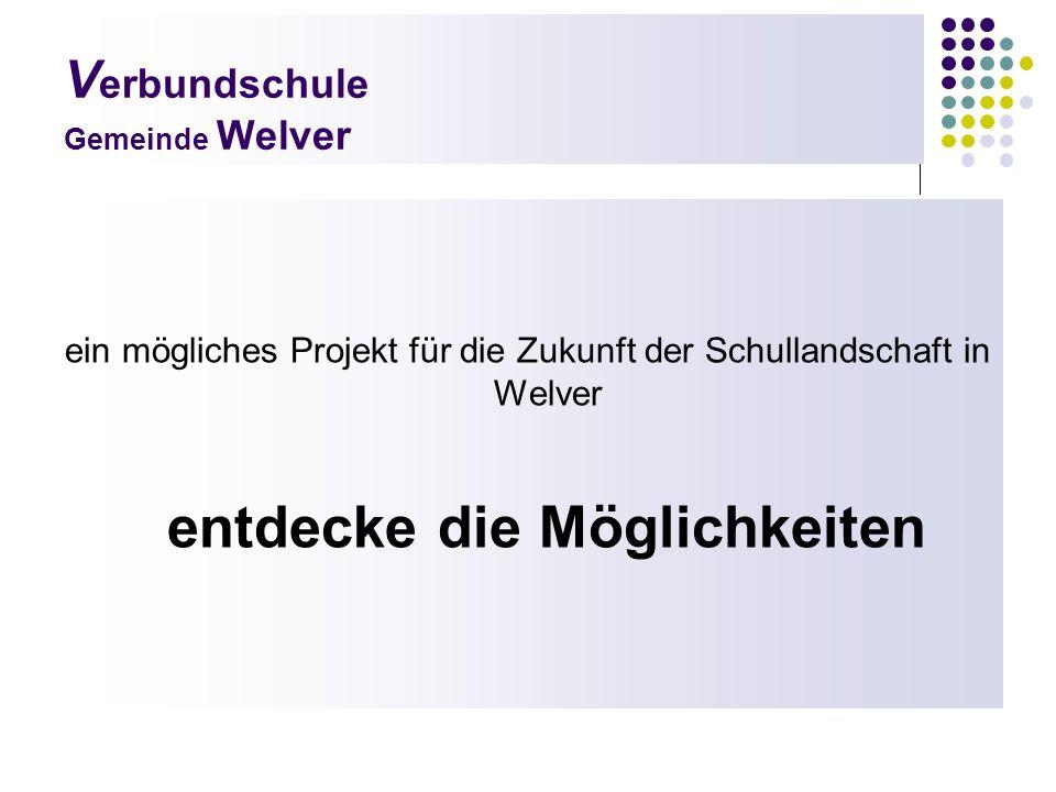 V erbundschule Gemeinde Welver ein mögliches Projekt für die Zukunft der Schullandschaft in Welver entdecke die Möglichkeiten