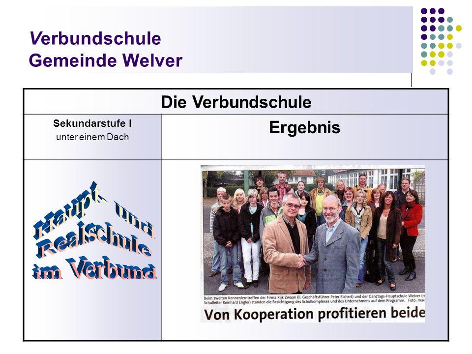 Verbundschule Gemeinde Welver Die Verbundschule Sekundarstufe I unter einem Dach Ergebnis