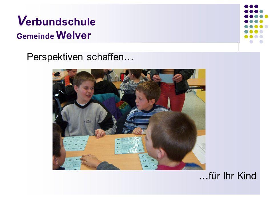 V erbundschule Gemeinde Welver Perspektiven schaffen… …für Ihr Kind