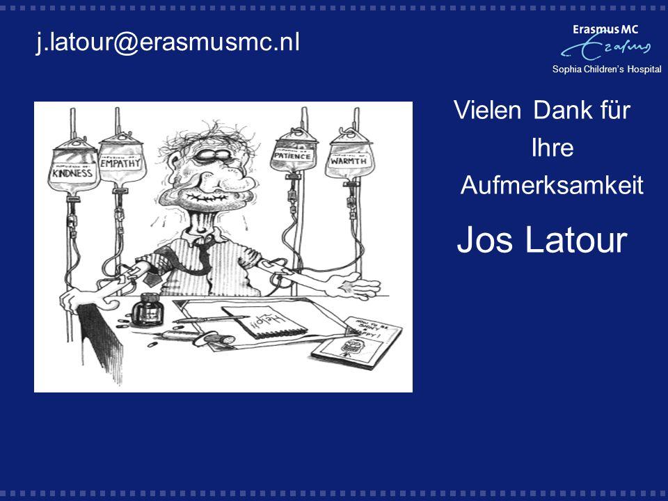 Vielen Dank für Ihre Aufmerksamkeit Jos Latour j.latour@erasmusmc.nl