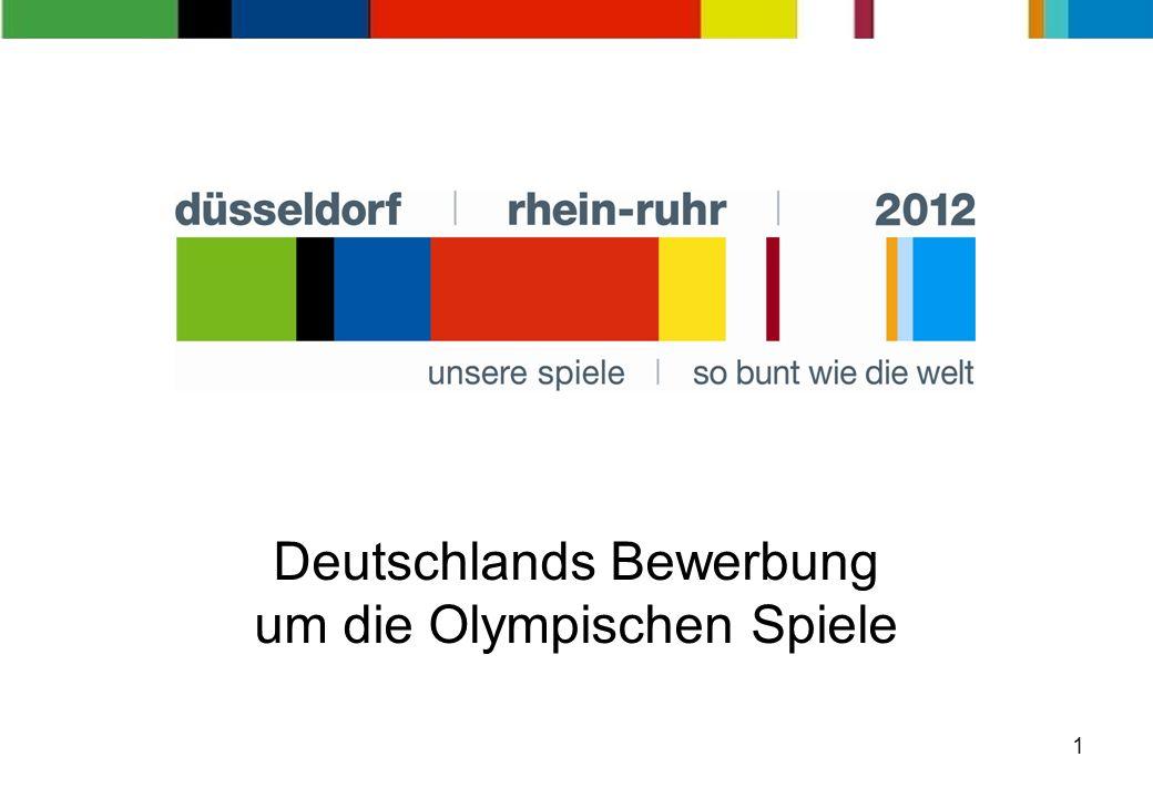 1 Deutschlands Bewerbung um die Olympischen Spiele