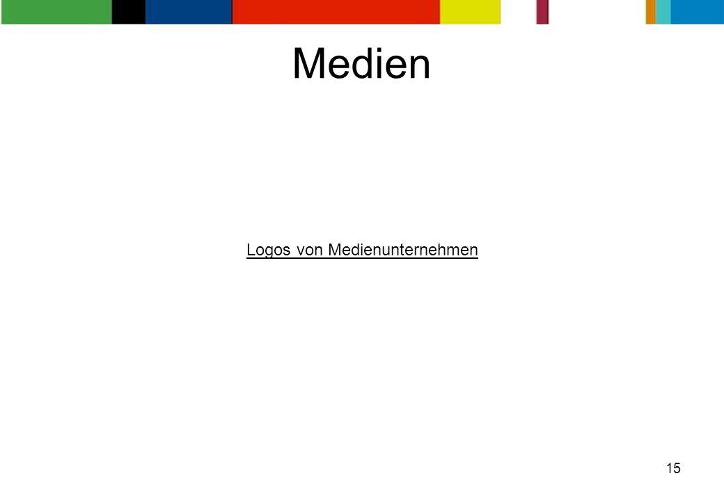 15 Medien Logos von Medienunternehmen