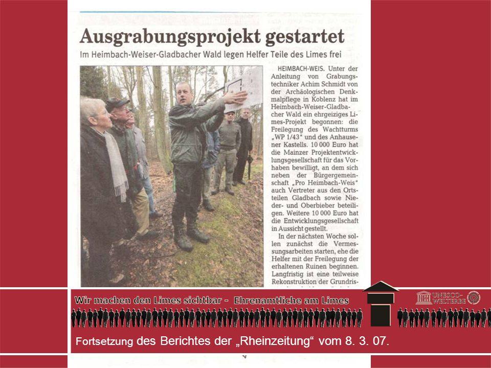 Fortsetzung des Berichtes der Rheinzeitung vom 8. 3. 07.