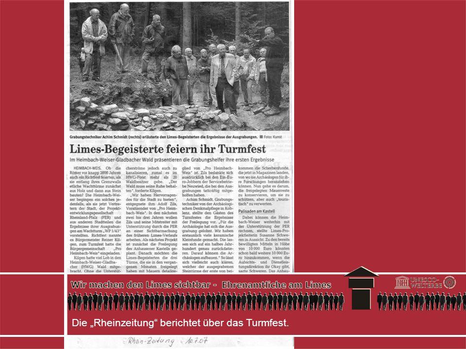 Die Rheinzeitung berichtet über das Turmfest.