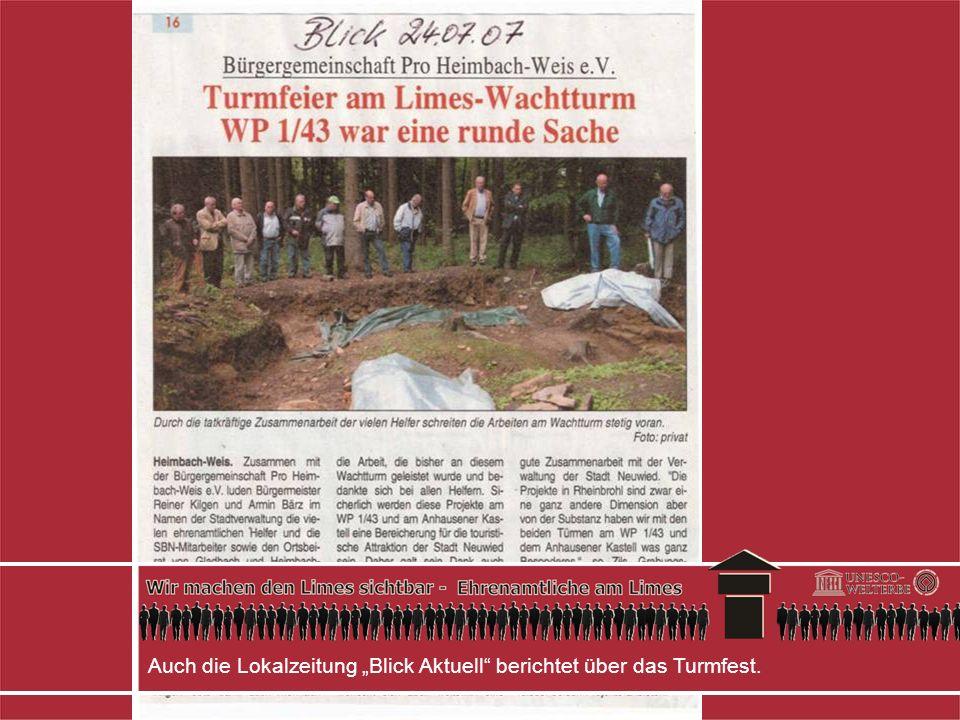 Auch die Lokalzeitung Blick Aktuell berichtet über das Turmfest.