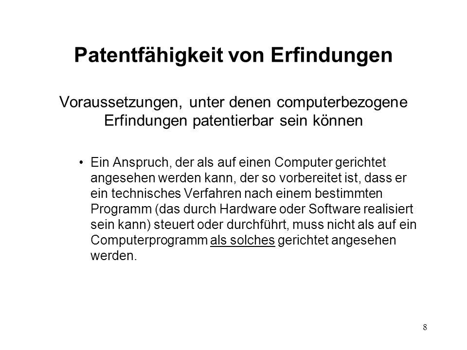 FALLSTUDIE – Beschwerde - Argumente des Anmelders Es gibt keine Definition von Computerprogrammen in den Richtlinien.