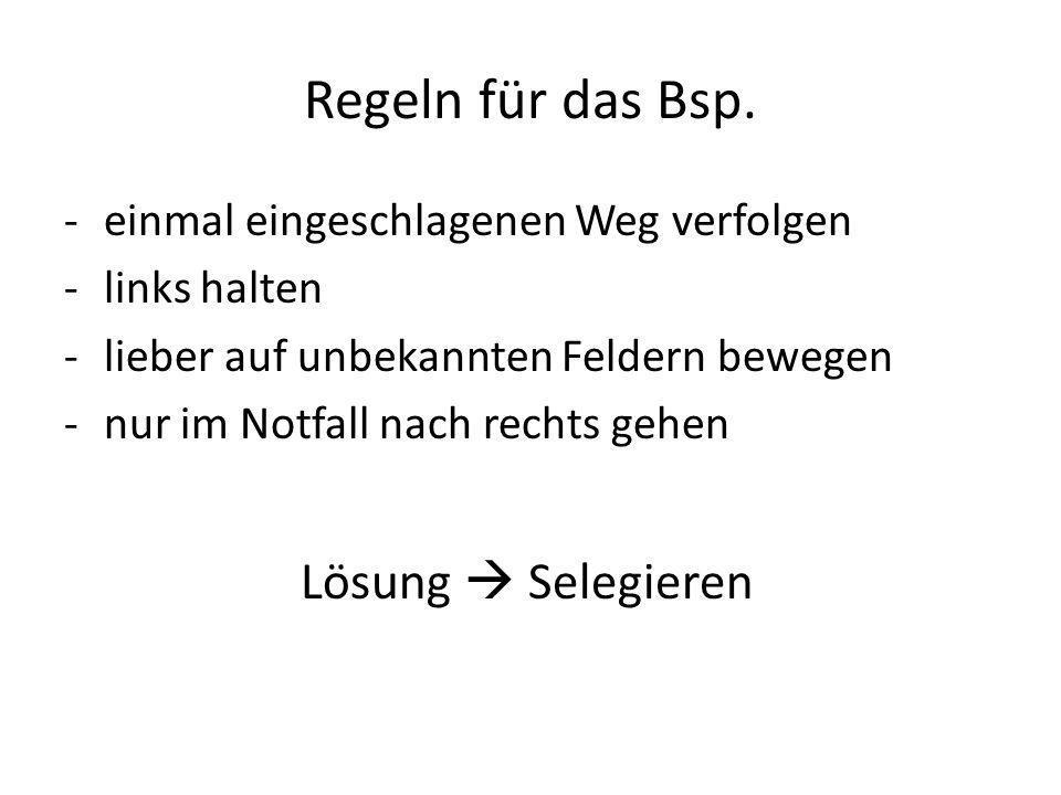 Regeln für das Bsp.