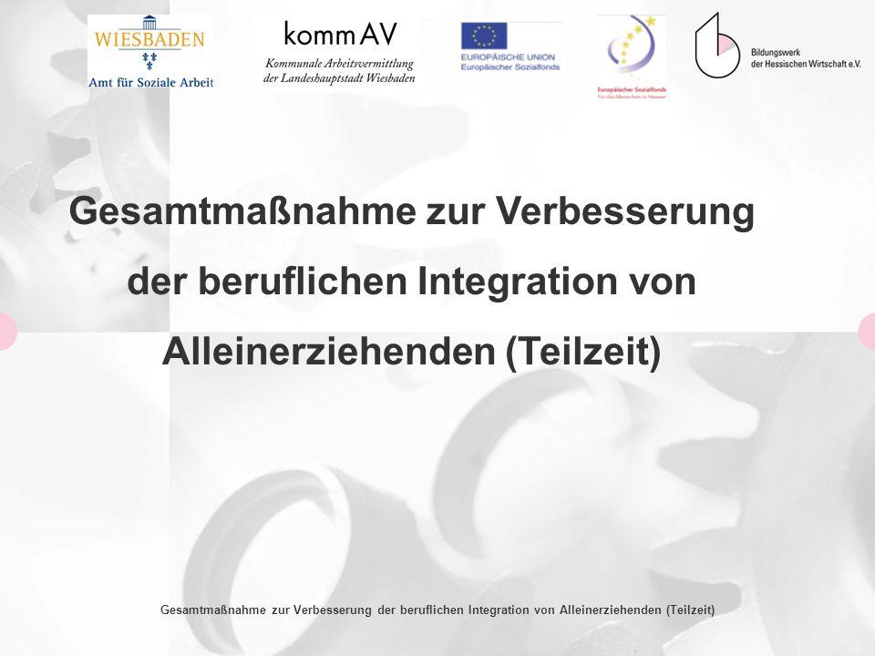 Gesamtmaßnahme zur Verbesserung der beruflichen Integration von Alleinerziehenden (Teilzeit) Gesamtmaßnahme zur Verbesserung der beruflichen Integrati