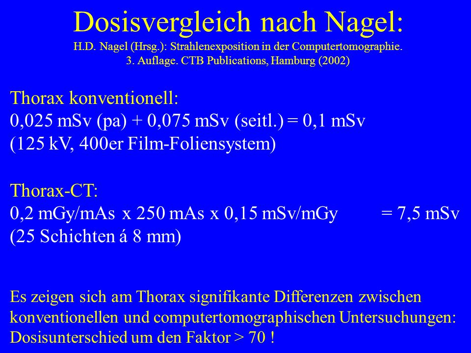Wege zur Ermittlung der effektiven Dosis: 1. Mit 2 Dosimetern (Webster 1989): je ein Dosismeter unter (H1) und ein Dosismeter über dem Bleischutz (H2)