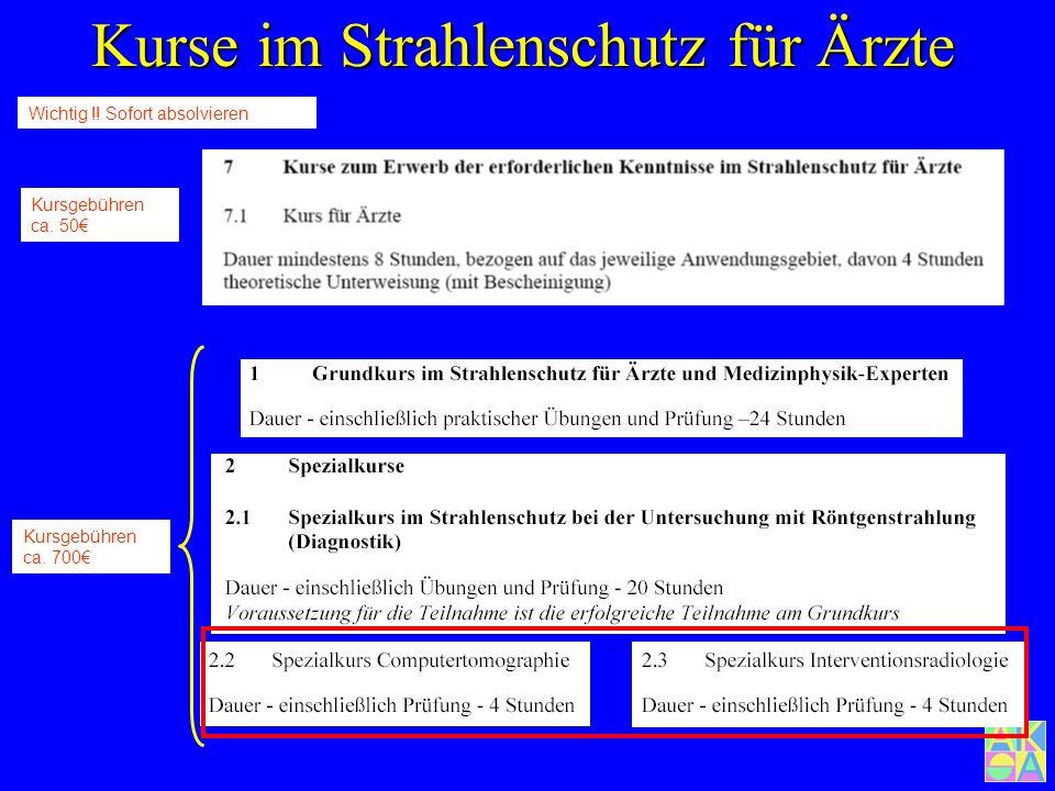 Fachkunde = Sachkunde + Kurse im Strahlenschutz Fachkunde = Sachkunde + Kurse im Strahlenschutz Ärzte: Diese Richtlinie gilt für alle Ärztinnen und Är