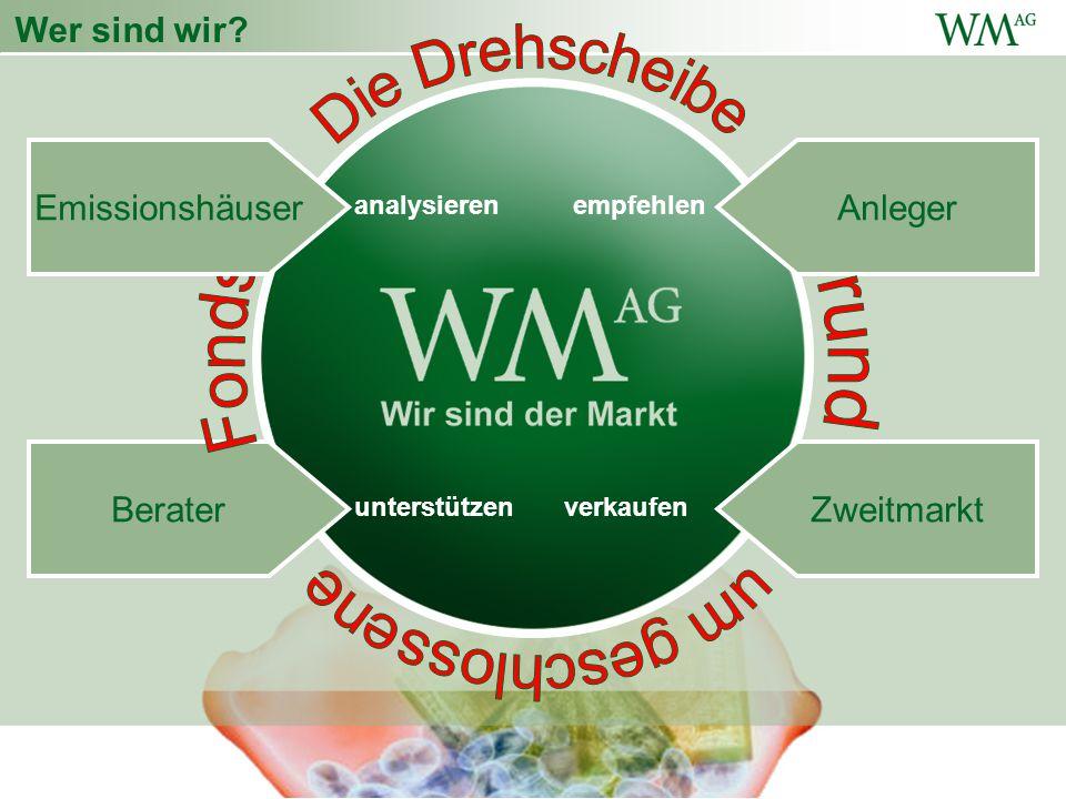 Wer sind wir.analysierenempfehlen verkaufenunterstützen Berater Anleger Wer sind wir.
